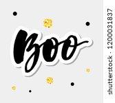 slogan boo phrase graphic...   Shutterstock .eps vector #1200031837