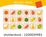 memory game for preschool... | Shutterstock .eps vector #1200034981