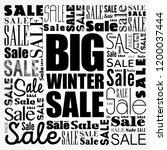big winter sale word cloud... | Shutterstock .eps vector #1200037444