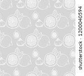 lemon  figs tropical fruits... | Shutterstock .eps vector #1200040594