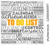 to do list word cloud collage ... | Shutterstock .eps vector #1200040597
