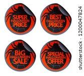 halloween set sale stickers...   Shutterstock .eps vector #1200047824