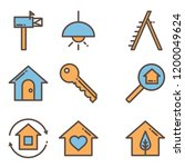engineer icon set vector | Shutterstock .eps vector #1200049624