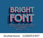 vector bright font. retro 3d... | Shutterstock .eps vector #1200051907