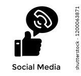 social media concept via... | Shutterstock .eps vector #1200063871