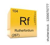rutherfordium chemical element... | Shutterstock . vector #1200070777