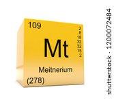 meitnerium chemical element... | Shutterstock . vector #1200072484