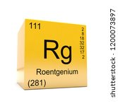 roentgenium chemical element... | Shutterstock . vector #1200073897