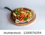chicken fillet for menu  | Shutterstock . vector #1200076354
