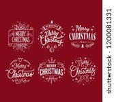 set of christmas greeting badge ... | Shutterstock .eps vector #1200081331