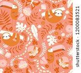 vector seamless tropical... | Shutterstock .eps vector #1200083521