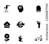 green energy icon set vector | Shutterstock .eps vector #1200087934