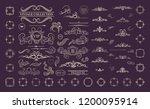 retro rosette and victorian... | Shutterstock .eps vector #1200095914