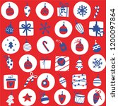 vector christmas background in... | Shutterstock .eps vector #1200097864