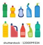 set of bottles for household... | Shutterstock . vector #1200099334