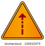 vector triangular sign with... | Shutterstock .eps vector #120010375