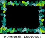 sea green tropical jungle... | Shutterstock .eps vector #1200104017