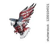 american bald eagle. hand... | Shutterstock .eps vector #1200104521