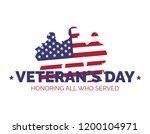 happy veteran's day. thank you... | Shutterstock .eps vector #1200104971