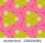 graphic floral tracery grid... | Shutterstock .eps vector #1200106381