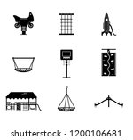 vector set of icons of kids... | Shutterstock .eps vector #1200106681