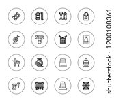 thread icon set. collection of... | Shutterstock .eps vector #1200108361