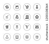 potion icon set. collection of...   Shutterstock .eps vector #1200108364
