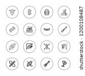 kayak icon set. collection of... | Shutterstock .eps vector #1200108487