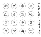 point icon set. collection of...