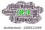 cop 24 in katowice  poland word ... | Shutterstock . vector #1200111244