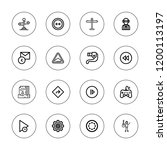 forward icon set. collection of ... | Shutterstock .eps vector #1200113197