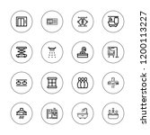 indoor icon set. collection of...   Shutterstock .eps vector #1200113227
