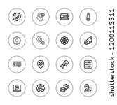 cog icon set. collection of 16... | Shutterstock .eps vector #1200113311