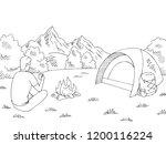 tourist sitting near the... | Shutterstock .eps vector #1200116224
