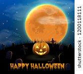 happy halloween night... | Shutterstock .eps vector #1200118111