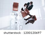 view from the top.the handshake ... | Shutterstock . vector #1200120697