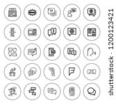 dialog icon set. collection of...   Shutterstock .eps vector #1200123421