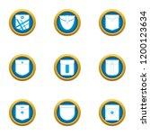pocketable icons set. flat set...   Shutterstock .eps vector #1200123634