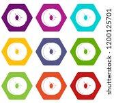 primitive tool icons 9 set...   Shutterstock .eps vector #1200125701