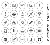png icon set. collection of 25... | Shutterstock .eps vector #1200125944