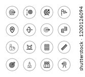 hit icon set. collection of 16...   Shutterstock .eps vector #1200126094