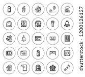 door icon set. collection of 25 ... | Shutterstock .eps vector #1200126127