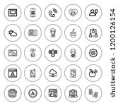 phone icon set. collection of... | Shutterstock .eps vector #1200126154