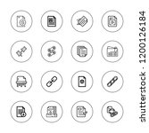 attach icon set. collection of... | Shutterstock .eps vector #1200126184
