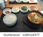 various and delicious korean... | Shutterstock . vector #1200126577