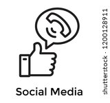 social media concept via... | Shutterstock .eps vector #1200128911