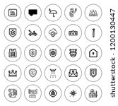 shield icon set. collection of... | Shutterstock .eps vector #1200130447