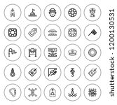 rope icon set. collection of 25 ...   Shutterstock .eps vector #1200130531