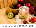 cool detox water drink with... | Shutterstock . vector #1200131431