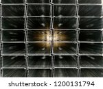stack of metal profiles for... | Shutterstock . vector #1200131794